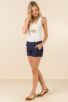Trista Flamingo Shorts #francescas