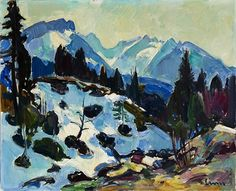 Alpstein landscape in late winter (view from the respass) by Carl Walter Liner Winter, Paintings, Art, Switzerland, Idea Paint, Landscape, Stones, Art Ideas, Art Background