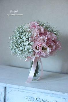 かすみ草ブーケ ピンク baby's breath bouquet pink