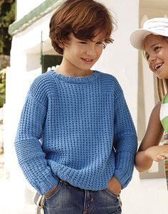 Book Kids 81 Spring / Summer | 37: Kids Sweater | Blue