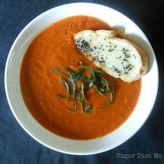 Roasted Tomato Basil Soup - Sugar Dish Me