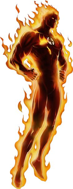 Human Torch - Marvel Comics - Fantastic Four - Johnny Storm __CCCIV__