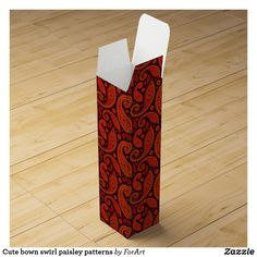 Shop Cute bown swirl paisley patterns wine box created by ForArt. Wine Gift Boxes, Champagne Bottles, Paisley Pattern, Surface Design, Card Stock, Gift Wrapping, Patterns, Create, Simple