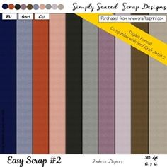 Easy Scrap  2   DIGIKIT Fabric Papers Pack on Craftsuprint - View Now! Fabric Paper, Bar Chart, Scrapbook, Easy, Design, Bar Graphs, Design Comics, Scrapbooks