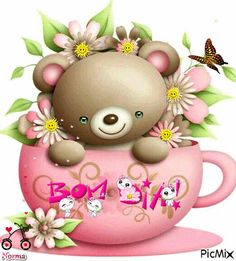 ♥♥Bom Dia!♥♥ Gifs, Friends Gif, Card Tattoo, Entertainment Center Decor, Bear Cartoon, Bath And Beyond Coupon, Gif Animé, Everything Pink, Animation
