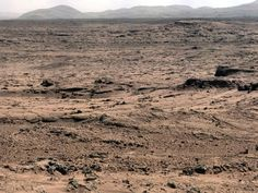 "NASA - Panoramic View From 'Rocknest' Position of Curiosity Mars Rover.  This panorama is a mosaic of images taken by the Mast Camera (Mastcam) on the NASA Mars rover Curiosity while the rover was working at a site called ""Rocknest"" in October and November 2012."