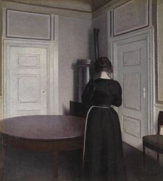 Hammershoi, Vilhelm (1864-1916) - 1899 Interior (Tate Gallery, London, UK) Oil on canvas; 64.5 x 58.1 cm. Vilhelm Hammershøi was a Danish painter