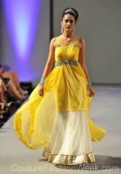 #moteuke #couture #stil #design #modell #kvinne #mote #fashion #2013 #jjuhijagiasi #kjole #gul #krone