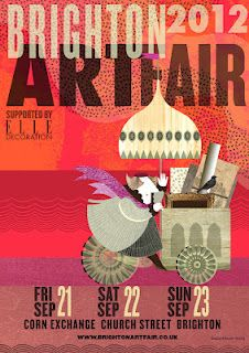 2012 Brighton Art Fair poster - design by Sarah Young