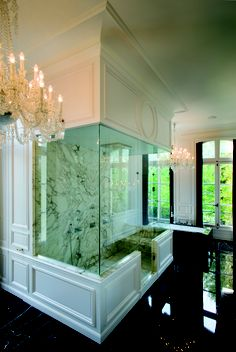 This shower (& the accompanying bathroom) is just wow! (Design by Lenny Kravitz; private residence in Paris)