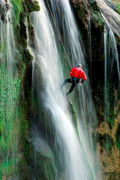 #Italy #Umbria #Marmore falls canyoning from the wall of the falls... great emotional impact