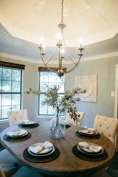 Fixer Upper | Season 2 Episode 4 | The House On The River Light Fixture over breakfast table