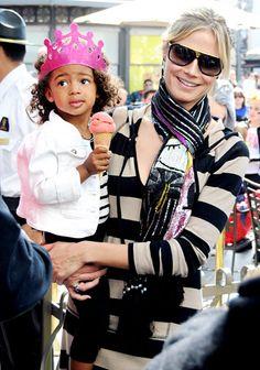 Heidi Klum and her daughter, Lou