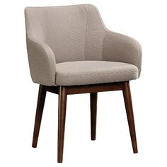 • Walnut-Stained Legs<br>• Leveling Feet<br><br>Bold, colorful, and eclectic, the Mixville Modern Arm Anywhere Chair from Threshold delivers a high-end curated look without the high-end price. Designed to inspire conversation, the upholstered chair can work alone or with other furniture.