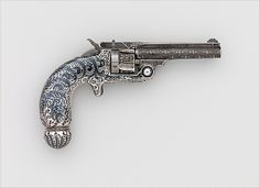 Smith and Wesson .32 Single-Action Revolver, Serial no. 94421 Smith & Wesson (American, established 1852) Decorator: Tiffany & Co. (1837–present) Date: ca. 1891–93