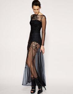 sheer dresses   Mariposa: The Sheer Maxi Dress - Abbey Lee Kershaw