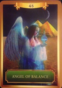 03/16/15 Today's card was drawn from the Energy Oracle Cards by Sandra Anne Taylor.   Today's card is ANGEL OF BALANCE. (Presented Upright) This loving presence holds a pitcher of liquid light in front...