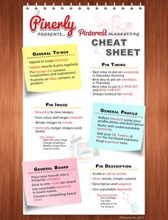 FANTASTIC Pinterest Cheat Sheet ♥