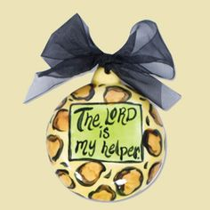 The Lord is My Helper Ceramic Handpainted Ornament  $5.40 Ceramic Christmas Trees, Diy Christmas Ornaments, Christmas Ideas, Painted Ceramics, Ceramic Painting, Ceramics Ideas, Hand Painted Ornaments, Christian Gifts, Lord