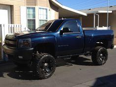 nice black lifted chevrolet silverado truck
