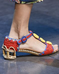 Quite possibly the ugliest shoe I've ever seen and it's by Dolce and Gabana.