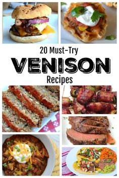 20 Must-Try Venison Recipes - a collection of delicious recipes using fresh deer meat, just in time for deer season this fall! meat 20 Must Try Venison Recipes - Southern Made Simple Elk Recipes, Crab Meat Recipes, Stew Meat Recipes, Gourmet Recipes, Cooking Recipes, Delicious Recipes, Recipes With Deer Meat, Deer Steak Recipes, Recipes With Ground Deer