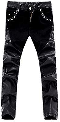 Skintan Mens Leather Classic Motorcycle Trousers Jeans 31 /& 34 Inside Leg Lengths Available in 29
