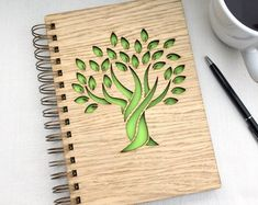 Unique & Personalised Wooden Gifts by TreetopCreationsShop 3d Laser, Laser Art, Wood Burn Designs, Plaque Design, Wood Crafts, Diy Crafts, Dremel, A5 Notebook, Mum Birthday