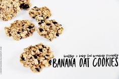 """Banana Oat Cookie Recipe: Healthy & Baby Led Weaning Friendly   When our daughter Rae was about 6 months old we decided to begin introducing her to solid foods. We did so using the """"Baby Led Weaning"""" technique. If you haven't heard of it before give it a quick google. It's really fascinating!  In a nutshell baby led weaning is intended to be a more """"natural"""" approach to food introduction that skips purees/baby foods entirely & goes straight to solid foods from milk. All while following your…"""