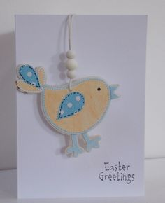 Easter Card with Bird Hanging Decoration £2.75