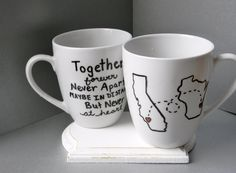 Long distance relationship friendship miss by tenthavenuemugworks, $14.95