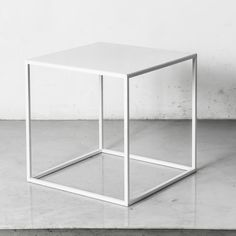 Powder coated white cube side tables / end by CraftsManhattan