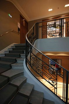 ART DECO STAIRCASES | Deutsche Bank Paris – Art Déco Staircase - Treppenhaus