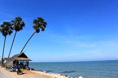 Pranburi beach, Phrajubkirikhun, Thailand
