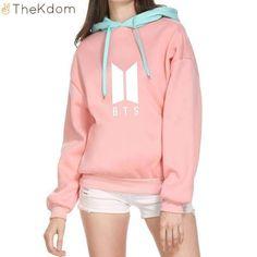 Bocaoying BTS Love Yourself Unisex Long Sleeve Hoodies Sweatshirts K-Pop Bangtan Tops Pullovers Hip-hop