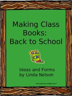 Class book templates!!!! awesome