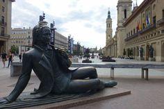 Spain, Europe, Superhero, Architecture, Places, Travel, Zaragoza, Statues, Sculptures