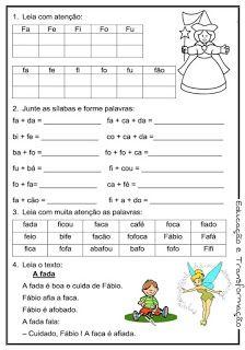 Blog Educação e Transformação: 👍Reforço de português para o 1° e 2° ano Portuguese Language, Toddler Activities, Professor, Education, Reading, Words, Blog, Reading Activities, Kids Learning Activities