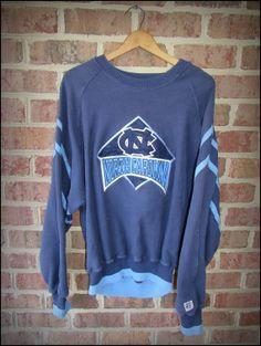 Vintage 90's The Game University of North Carolina Tarheels Crewneck by CharchaicVintage, $20.00