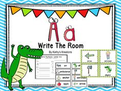 Letter A Write The Room With Bonus Word Wall CardsThis write the room has 11 pictures that begin with A, (in color and black and white) and one picture recording sheet for your students to write the words they find next to the matching picture. Included are matching word wall cards which can be used on your word wall or at a writing center.