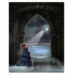 """Moon Music"" by fairieprincessgoddess ❤ liked on Polyvore featuring art"