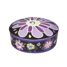Vera Bradley Purple Punch Covered Box: Vera Bradley Purple Punch Decorative…