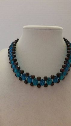 Check out this item in my Etsy shop https://www.etsy.com/listing/200216085/blue-necklace-maroon-necklace-adjustable