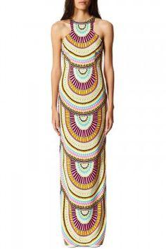 Mara Hoffman High Neck Column Dress