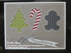 """Holiday Collection Framelits """"cookie cutter"""" Card."""