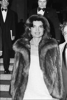 Jackie, fabulous in fur.