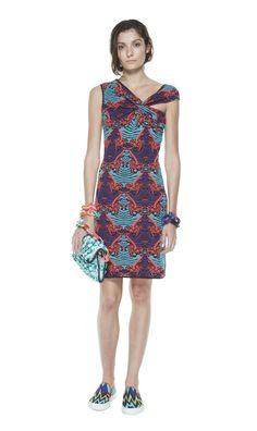 #MMissoni   Floral jacquard dress   Summer 2014 Collection