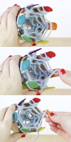 How-To: diy a knitting loom & knit with it Crafts For Girls, Arts And Crafts, Spool Knitting, Craft Wedding, Craft Videos, Yarn Crafts, Diy Crafts To Sell, Craft Tutorials, Craft Gifts