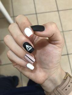 Harry Potter Nails Designs, Harry Potter Nail Art, Simple Nail Art Designs, Acrylic Nail Designs, Aycrlic Nails, Diy Nails, Nurse Nails, Nails Only, Best Acrylic Nails