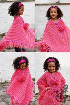 Girl's Crochet Poncho Crochet Pattern